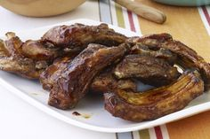 Enjoy these sweet and savory Easy BBQ Ribs! Simmer Easy BBQ Ribs for 20 minutes before grilling with a few brushes of BBQ sauce for a quick-and-easy dish. Kraft Foods, Kraft Recipes, Easy Bbq Recipes, Rib Recipes, Grilling Recipes, Summer Recipes, Easy Meals, Cooking Recipes, What's Cooking