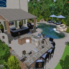 3D Pool Designs | Online Pool Designs | Free Swimming Pool Plans ...