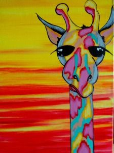 View Paint and Sip Artwork - Pinot's Palette Night Painting, Art Painting, Animal Art, Pinots Palette, Giraffe Art, Painting Inspiration, Art, Animal Paintings, Canvas Painting