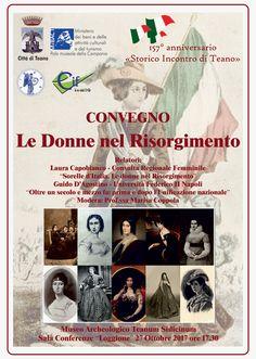 """Convegno """" Le Donne nel Risorgimento"""" a cura di Enzo Santoro - http://www.vivicasagiove.it/notizie/convegno-le-donne-nel-risorgimento/"""
