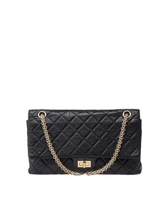 Chanel Reissue Black Quilted Leather Double Flap Shoulder Bag Chanel  Reissue f45d1a6226854