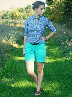 Navy Gingham - a preppy outfit post is up on my blog!
