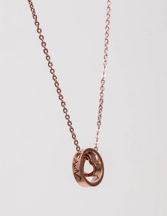 Pink Gold Heart Necklace Κολιέ καρδιά με λεπτή αλυσίδα σε απόχρωση ροζ χρυσού. 9,00 €