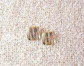 Vintage costume gold stud earrings.