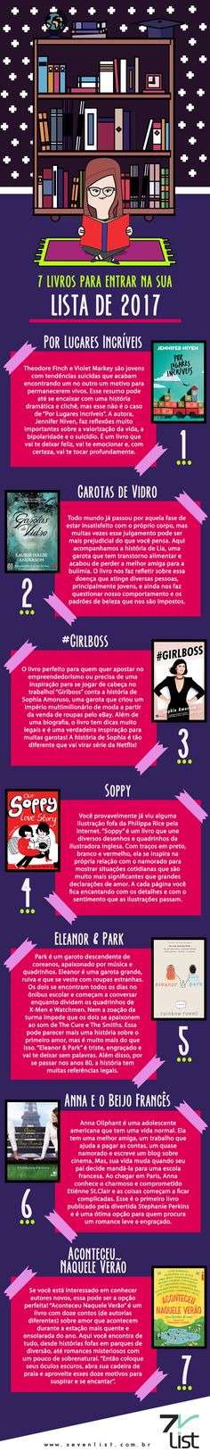 7 livros para entrar na sua lista de 2017 I Love Books, Good Books, Books To Read, My Books, Book Challenge, Thing 1, Some Quotes, Student Life, Staying Alive