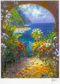 Marko Mavrovich - Harbour View Paintings I Love, Art Paintings, Tuscany Landscape, 3d Home, Italian Painters, Detailed Image, Contemporary Paintings, Traditional Art, Art Forms