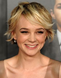 Carey Mulligan - growing out pixie and styling instructions