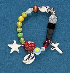Roman Story of Jesus Christ Multicolor Beaded Charms Fashion Bracelet with Story Card  Adult Size.More info for silver charm bracelet;stretch bracelets;heart bracelet;ladies gold bracelet;new bracelet could be found at the image url.(This is an Amazon affiliate link and I receive a commission for the sales)