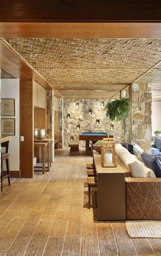 Home Deco, Interior Architecture, Interior And Exterior, Bamboo Ceiling, Bamboo House Design, Deco Restaurant, Hawaiian Homes, Interior Decorating, Interior Design