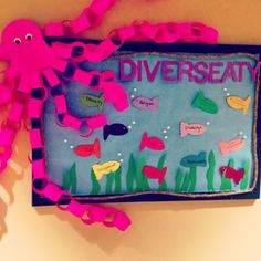 Sea themed diversity RA bulletin board for my hall