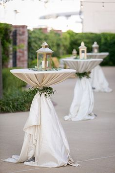 20 Perfect Wedding Cocktail Table Decoration Ideas For Your Big Day - Oh ., 20 Perfect Wedding Cocktail Table Decoration Ideas For Your Big Day - Oh Best Day Ever - Wedding Cocktail Table With Lanterns - Cocktail Table Decor, Cocktail Tables, Wedding Cocktail Hour, Cocktail Engagement Party, Floral Wedding, Rustic Wedding, Wedding Flowers, Neutral Wedding Decor, Wedding Bouquets