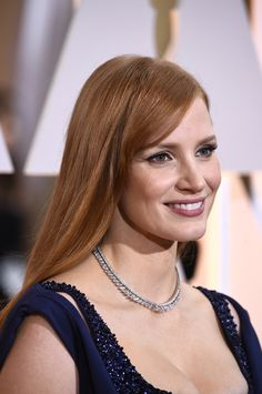 Jessica Chastain wore a Piaget diamond necklace.