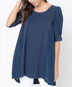 Navy Panel Swing Top