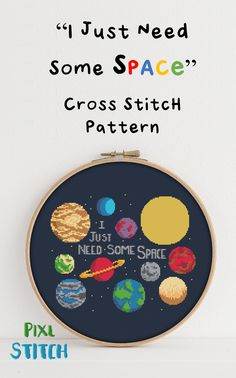 Space Pun Cross Stitch pattern PixlStitch #crossstitch #crossstitchpattern #xstitch