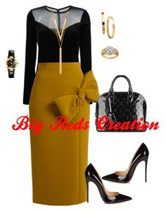 Power by bigreds on Polyvore featuring polyvore, fashion, style, Lanvin, Roksanda, Christian Louboutin, Louis Vuitton, Versace, BERRICLE, Annello and clothing