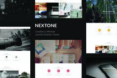 Nextone - Joomla Portfolio Theme by TDGR on @creativemarket