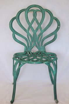 Vintage Turquoise Outdoor Chair
