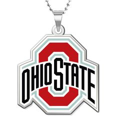 """Ohio State Buckeyes Women's 18"""" Silver-Plated Necklace with 3/4"""" Outline Logo Pendant - $51.99"""
