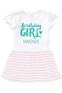 FUNNYSHIRTS.ORG Cute Birthday Girl Makenzie: Toddler Baby Rib Dress Girl Birthday, Onesies, Cute, Kids, Baby, Clothes, Fashion, Moda, Children