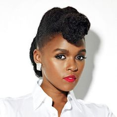 Natural hair updo inspiration from Janelle Monae   Essence.com