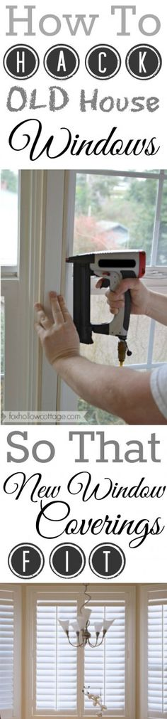 How To Make NEW Plantation Shutters Fit OLD House Windows - A Diy Hack