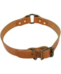 Give your four-legged friend a dash of luxury canine style with the Filson Leather Dog Collar. Crafted from supple bridle leather it has an exceptionally premium feel as well as being superbly comfortable for your dog. The buckle fasten design with stud detailing is both stylish and practical. Head out on weekend walks with a collar that they can call their own.