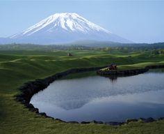 The beautiful Fuji Classic Golf Club in Yamanashi, Japan