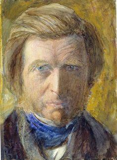 JOHN RUSKIN, SELF PORTRAIT IN BLUE NECKCLOTH, 1873