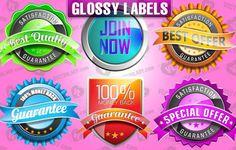 Vectores de etiquetas brillantes (Vector glossy labels) - See more at: http://www.render2web.com/vectores-de-etiquetas-brillantes/#sthash.ocjEyImx.dpuf