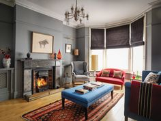 Designer's delight: interior designer Anna Haines' Victorian home full of pops of colour | HouseAndHome.ie Plummet by F&B