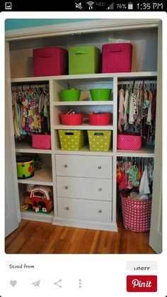 toddler closet organization kids bedroom