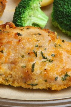 Baked Parmesan, Cheddar Cheese and Bread Crumb Crusted Garlic Chicken Recipe