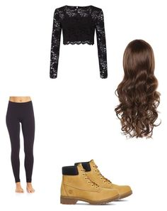 """""""Untitled #45"""" by alyssahislope22 ❤ liked on Polyvore featuring Wolford, Miss Selfridge and Timberland"""