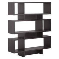 Cassidy 6 Level Modern Bookshelf Dark Brown - Baxton Studio : Target