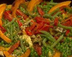 Súper paella vegetariana