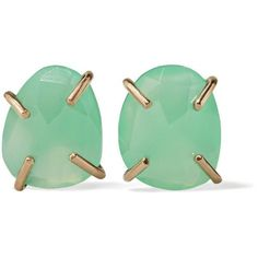 Melissa Joy Manning 14-karat gold chrysoprase earrings ($395) ❤ liked on Polyvore featuring jewelry, earrings, mint earrings, melissa joy manning, 14 karat gold earrings, mint green jewelry and earring jewelry