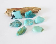Natural Arizona Turquoise Free Form Cabochon Lot  21.05cts by BellaGems61 on Etsy $18.00