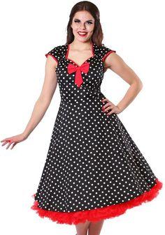 Isabella Black Polka Dot, 50's dress by Lady Vintage  http://www.misswindyshop.com/fi/shop/mekot/isabella+black+polka+dot+mekko