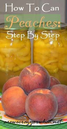 Step by step directions for canning peaches. Learn to can peaches and enjoy them all year! #beselfreliant
