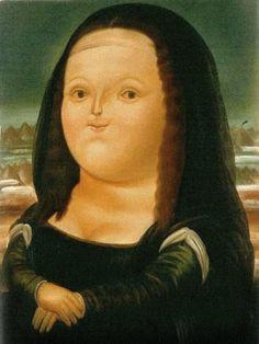 Autor Fernando Botero. Elegida por la desproporción de la cabeza a comparación de los brazos y cuerpo.