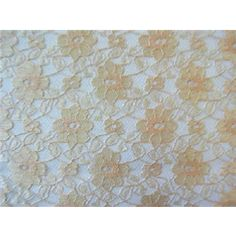 Champagne Floral Lace - Sy Fabrics  $3.99/yd