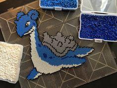 Lapras Pokemon perler beads by nelso95