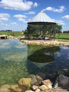 Natural Swimming Pool/Pond with Gazebo