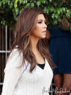 Kourtney Kardashian's hair, adore it