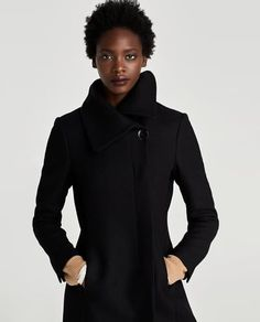 Image 2 of COAT WITH WRAP COLLAR from Zara