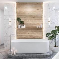 15 New ideas bathroom tub shelf wall colors Wood Floor Bathroom, Bathroom Windows, Bathroom Spa, Bathroom Colors, White Bathroom, Bathroom Flooring, Bathroom Furniture, Bathroom Interior, Modern Bathroom
