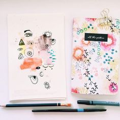Art journal ideas. Technique inspiration for sketchbooks, scrapbooking or travel journaling.