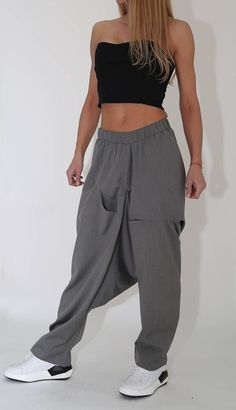 Excited to share this item from my shop: Harem Pants / Paradox / Pants with Elastic Waist / Loose Trousers / Pocket Pants / Hippie Pants / Women Trousers Blouse And Skirt, Skirt Pants, Harem Pants, Hippie Outfits, Chic Outfits, Trousers Women, Pants For Women, Ropa Shabby Chic, Hijab Fashion