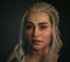 Daenerys, Daenerys Targaryen, Emilia Clark, Game of Thrones, Baolong Zhang, 3dart, sculpting, Zbrush, Unreal Engine 4, UE4, gamedev, indiedev, Until Dawn, Splinter Cell 4: Double Agent