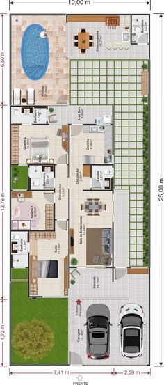 Free House Plans, Simple House Plans, House Layout Plans, Family House Plans, Best House Plans, House Layouts, Sims House Design, Small House Design, Home Building Design